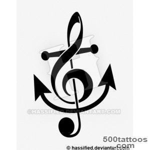 Top Anchor Treble Clef Tattoo Images for Pinterest Tattoos_50