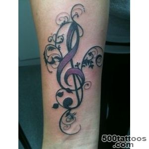 Top Cool Treble Clef Images for Pinterest Tattoos_29