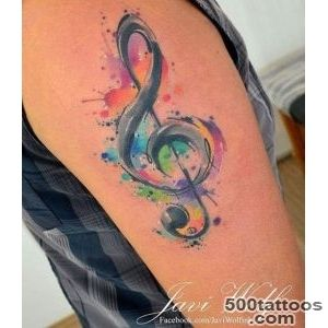 Treble Clef Tattoo  Best Tattoo Ideas Gallery_12