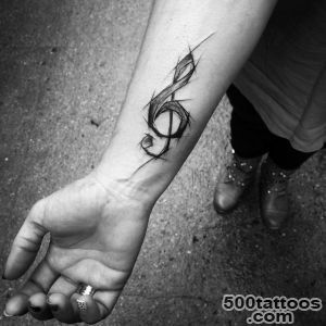 Treble Clef Tattoo on Wrist  Best Tattoo Ideas Gallery_22