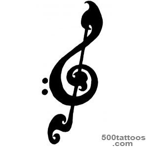 Treble Clef Tattoos Designs, Ideas and Meaning  Tattoos For You_44