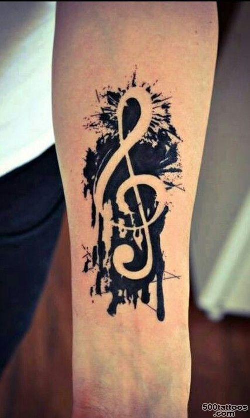 25+ Treble Clef Tattoo Images, Pictures And Photos Ideas_2