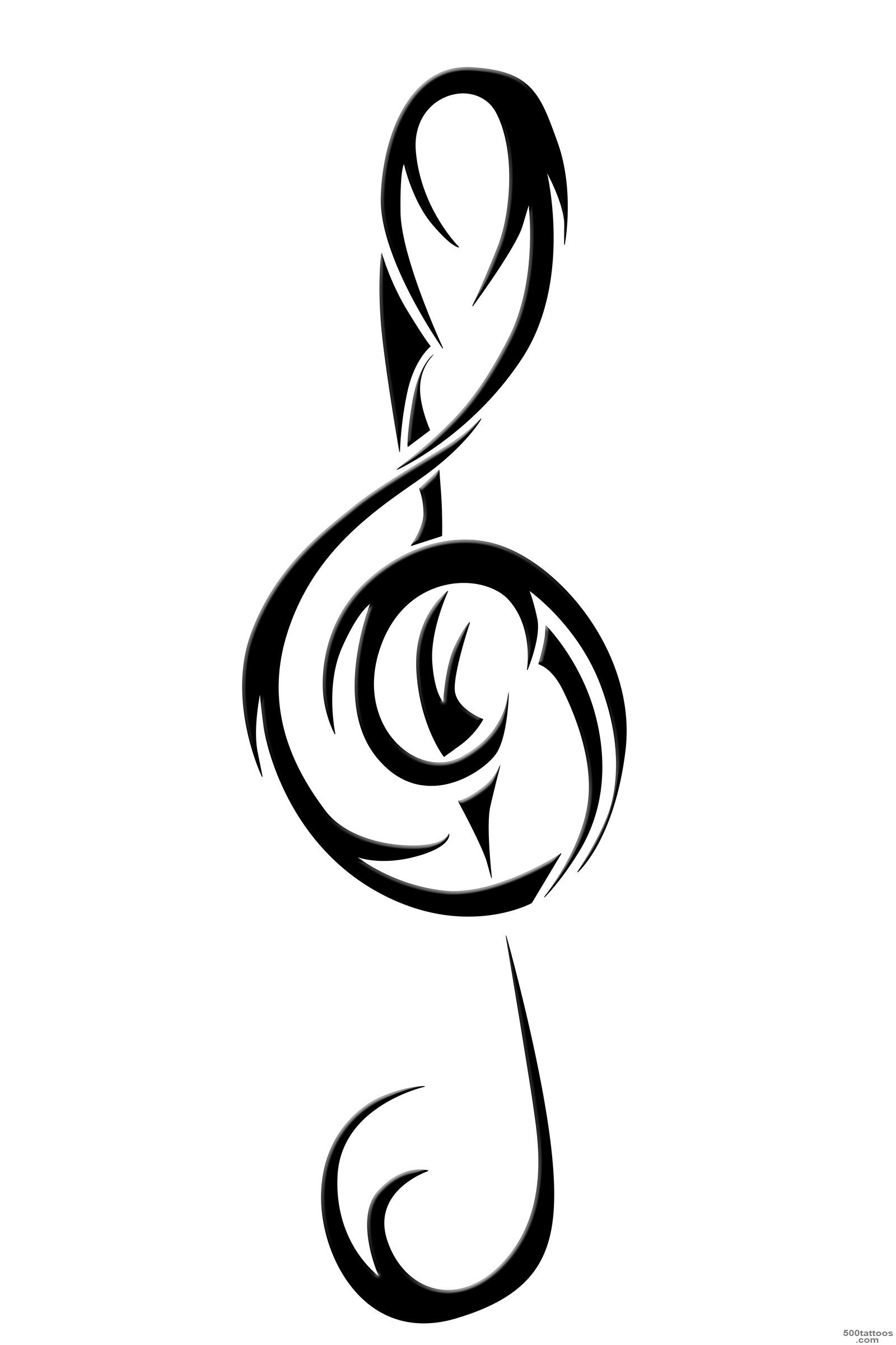 DeviantArt More Like Dragon Treble Clef Tattoo by sezratron_39