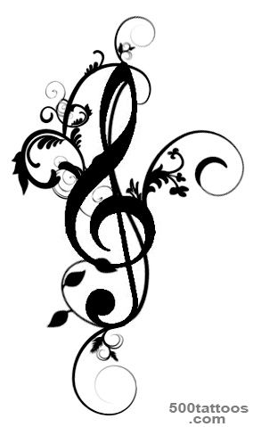 Treble Clef Bass Clef Tattoo   ClipArt Best_11