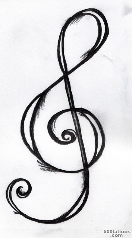 Treble Clef Tattoo Designs   Cliparts.co_4