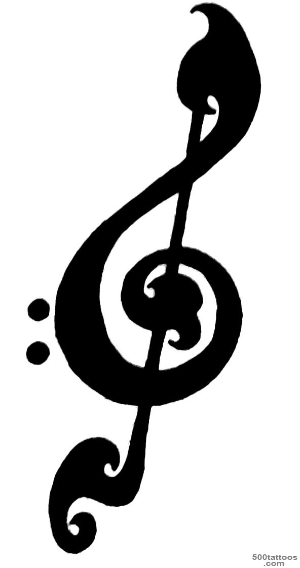 Treble Clef Tattoo Designs Ideas Meanings Images
