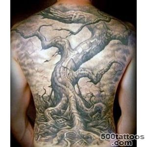 50 Oak Tree Tattoo Designs For Men   Leaves And Acorns_41