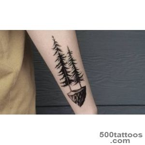 Pine Tree Tattoo Gallery [20 Designs] » Real Body Art_44