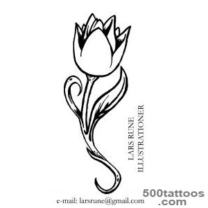 Tulip Design Tattoo   Tattoes Idea 2015  2016_30