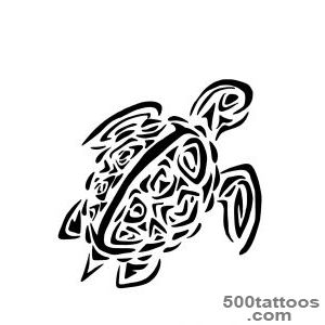 50+ Awesome Tribal Turtle Tattoos Designs_25