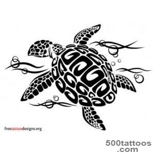 Turtle Tattoos  Polynesian and Hawaiian Tribal Turtle Designs_3