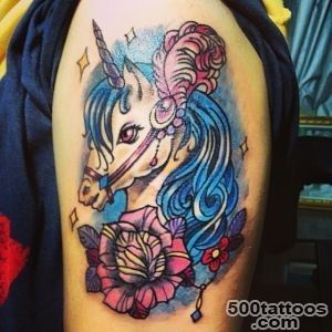 22 Wonderful Unicorn Tattoo Images And Pictures_26