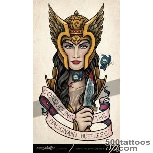 Valkyrie Cancer Tattoo   Sam Phillips   Artist  Illustrator _44