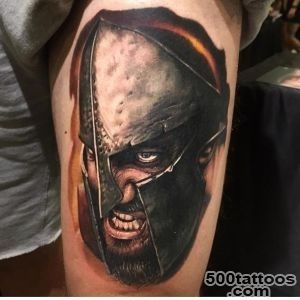 100+ Warrior Tattoo Designs to Get Motivated_27
