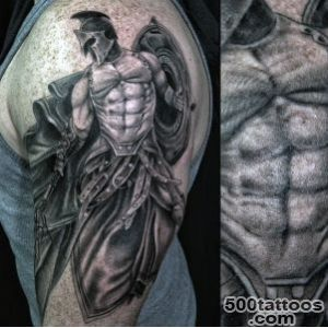 100 Warrior Tattoos For Men   Battle Ready Design Ideas_4