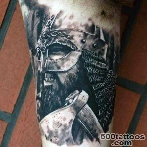 100 Warrior Tattoos For Men   Battle Ready Design Ideas_30