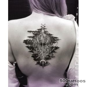 Trees Reflected in Water Tattoo by Katie Shocrylas   TattooBlend_20