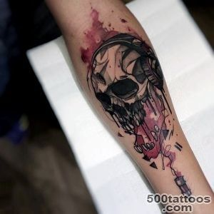 100 Watercolor Tattoo Designs For Men   Cool Ink Ideas_29