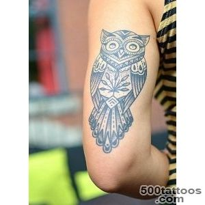 Marvelous Owl Tattoos Designs that are a symbol of Wealth_3