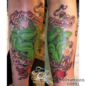 My Family is my Wealth   Strawberry plants  Tattoocom_2