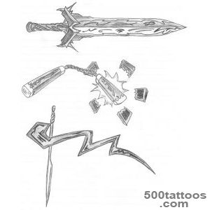 18+ Weapons Tattoos Designs_32
