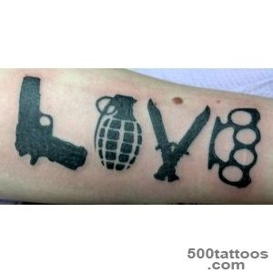 64+ Weapons Tattoos Ideas_2
