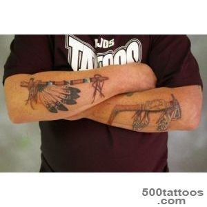 A colored image of Indian weapons  Tattoocom_13
