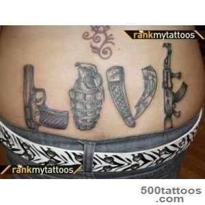 gun, love, weapons, tattoo, This is awesome  Tattoo Ideas _4