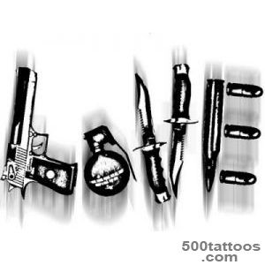 Love made from weapons can be dangerous  tattoo ideas  Pinterest_43