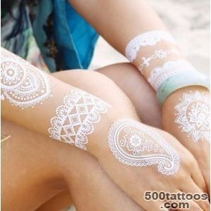 Stunning White Henna Inspired Tattoos That Look Like Elegant Lace _45