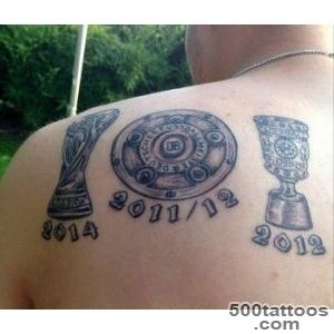 Dortmund#39s Kevin Grosskreutz gets World Cup trophy tattoo without _48