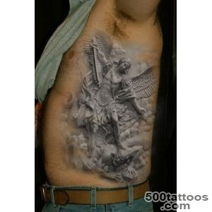 Realistic angel winner tattoo on ribs   Tattooimagesbiz_7