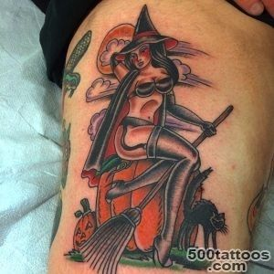 32 Marvelous Witch Tattoos for Halloween  Best Tattoo Ideas Gallery_5