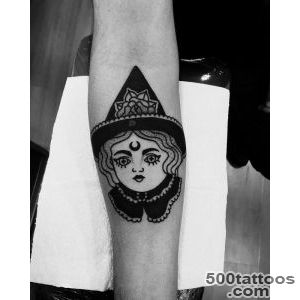 32 Marvelous Witch Tattoos for Halloween  Best Tattoo Ideas Gallery_17