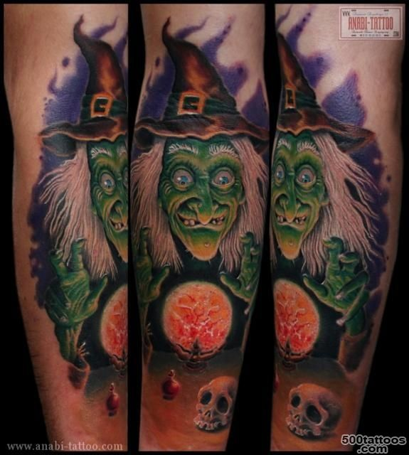59+ Incredible Witch Tattoos_9
