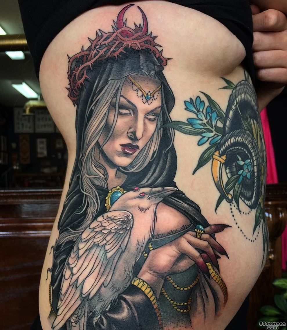 Thorny witch and her albino familiar   Yeahtattoos.com_3