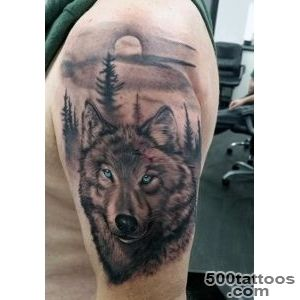 70 Wolf Tattoo Designs For Men   Masculine Idea Inspiration_6
