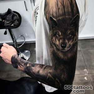 70 Wolf Tattoo Designs For Men   Masculine Idea Inspiration_10