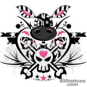 Eyepatch Zebra Tattoo stock photos   FreeImagescom_28