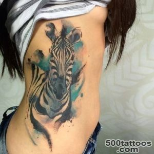 Tattoo Filter — Side tattoo of a watercolor style zebra Tattoo_7