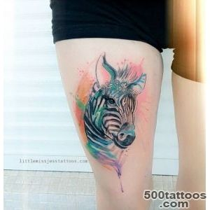 Watercolor Zebra by Jess Hannigan   TattooBlend_2