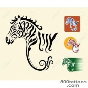 Zebra Symbol And Three Alternative Colors Design Royalty Free _49